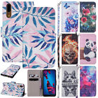 For Huawei Mate 10 Lite Honor Y5 Y6 Case Patterned Leather Magnetic Wallet Cover