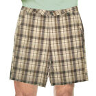 New Hurley Men's Lightweight Plaid Flat-Front Casual Shorts Size 36, 38 MSRP $49