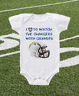 Los Angeles Chargers Onesie Shirt Helmet Design Love To Watch With Grandpa $13.95 USD on eBay