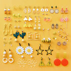 Summer Yellow Orange Sweet Fruit Food Ear Studs Geometric Drop Dangle Earrings image