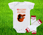Baltimore Orioles Outfit Onesie And Leggings Set Watching With Daddy on Ebay