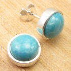 Bridemaid Earrings Collection ! Green Copper Turquoise Stud ! 925 Silver Plated