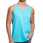 Men Tank Top Camo Sleeveless Gym A-Shirt Solid Workout Fitness Beach Army Muscle