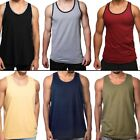 Men Tank Top Camo Sleeveless Gym A Shirt Solid Workout Fitness Beach Army Muscle