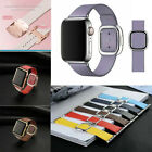 Genuine Leather Magnetic Closure Wrist Band Strap For Apple Watch iWatch 38 42mm image