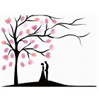 Wedding Party Fingerprint Tree Painting Signature Guest Book with Ink Pad Gifts