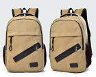 Men Women Canvas Backpack Rucksack Travel Student Schoolbag Book Bag New US