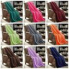 1/2 pack Solid Soft Versatile Small Throw Lightweight Travel Micro Plush Blanket image