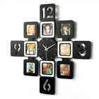 8pcs Personalized Home Decor Art Photo Frame Wall Clock Holding Photos Silent