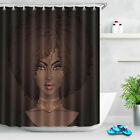 US Afro African Rustic Wood Barn Door Jungle Polyester Fabric Shower Curtain Set