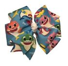 Baby Shark Pinwheel HairBow