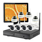 Home Security CCTV System Wireless IP Camera with Hard Drive and Monitor US