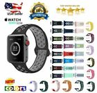 Replacement Silicone Band Strap 38mm 40mm 42mm 44mm For Nike+ Apple Watch iWatch image