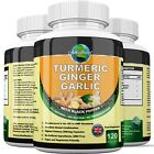 GINGER TURMERIC GARLIC and BLACK PEPPER 3654mg CAPSULES CARDIOVASCULAR SUPPORT+