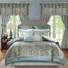 Bedroom Comforter Set 24PC Room In Bag Sheets Curtains Pillows Master Guest Dorm image