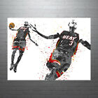 Dwayne Wade and LeBron James Miami Heat Poster FREE US SHIPPING on eBay