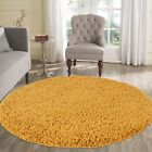 Modern Mustard Yellow Gold Ochre Small - Large Living Room Area Plain Shaggy Rug