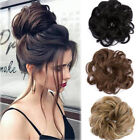Kyпить US Real Natural Curly Messy Bun Hair Piece Scrunchie Hair Extensions as Human на еВаy.соm