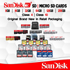 Original Sandisk SD Card 8/16/32/64/128 GB Memory MicroSD Extreme Pro lot Ultra