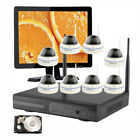 8 Dome Home CCTV Wireless Security Camera System 720p w/ Hard Drive HDMI Monitor