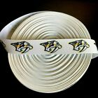 "7/8"" Nashville Predators White Grosgrain Ribbon by the Yard (USA SELLER!) $4.85 USD on eBay"