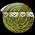 """7/8"""" Pittsburgh Steelers Busy Block Grosgrain Ribbon by the Yard (USA SELLER) $6.49 USD on eBay"""