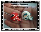 Miami Dolphins Magnets Bull Dogs Magnets Roosters Police Ambulance Frig Magnets $10.98 USD on eBay