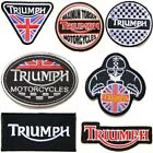 TRIUMPH Motorcycles Biker Racing Patch Iron on Applique T shirt Jacket Cap Badge $4.99 USD on eBay