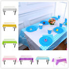 1pcs Plastic Dot Table Cloth Covers Party Catering Events Tableware 6 Colors