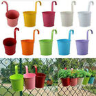 10-50x Metal Hanging Pots Plant Flower Bucket Balcony For Fence Garden F8j7n