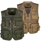 Men Outdoor Plus Size Multi-Pocket Vest Travelers Fly Fishing Quick-Dry Jacket