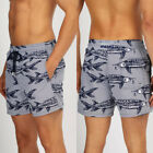 LO 2019 Men Swimming Board Shorts Swim Running Short Trunk Swimwear Beach Summer