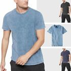 Mens Basic T-Shirts Short Sleeve Tri blend Casual Tech Tee Crew Neck Vintage image