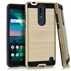 For Nokia 3.1 Plus Shockproof Slim Armor Hybrid Rugged Dual Rubber TPU Hard Case