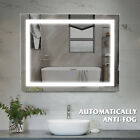 AntiFog Vertical/Horizontal LED Light Bathroom Mirror Wall Mount Touch Button