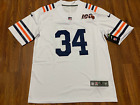 Mens Chicago Bears Walter Payton White Jersey 100th Stitched FREE SHIPPING