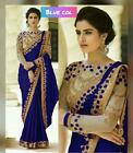 Saree Designer Floral Embroidery New Traditional Women Sari Indian Ethnic JH-1