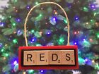 Cincinnati Reds Christmas Ornament Scrabble Tiles Key Chain Magnet on Ebay