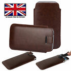 PU Leather Slim Pull Tab Phone Case Cover Slip Sleeve Pouch For Doro 8030
