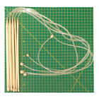 85cm Afghan/Tunisian crochet hook - 25cm bamboo with flexible cord 9mm LAST ONE