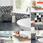18pcs 3d Mosaic Self-adhesive Bathroom Kitchen Decor Wall Mosaic Tile Stickers