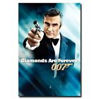 Diamonds Are Forever 12x18 24x36inch 007 James Bond Movie Silk Poster Hot $9.14 CAD on eBay