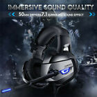 ONIKUMA Gaming Headset with 7.1 Surround Sound Mic LED Lights for PS4 Xbox One