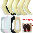 3-12 Pairs Womens No Show Nonslip Loafer Invisible Liner Half Lace Boat Socks