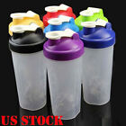 600ml Cup BPAfree Shake Protein Blender Shaker Mixer Drink Whisk Ball Bottle Hot