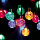 Solar String Lights Outdoor 30 LED 20FT Power Waterproof Crystal Ball Fairy Twin
