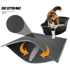 8ABC Black/Grey Cats Litter Trapper Cat Litter Pad Nonslip Feeding Mats