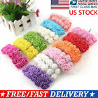 144 Heads Mini Foam Rose Fake Flower Heads Home Wedding Party Decor Bouquet Lots
