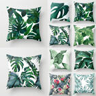 US Green Leaves Pillow Case Polyester Cushion Cover Decorative Home Sofa Throw image
