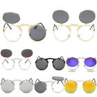 Fashion Retro Vintage Gothic Round Flip Up Sunglasses Steampunk Glasses new~SN